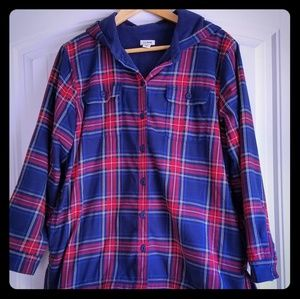 LLBean Fleece lined Women's Button up hoodie